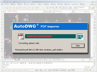 PDF DWG Converter, converting PDF to DWG DXF files on Windows OS