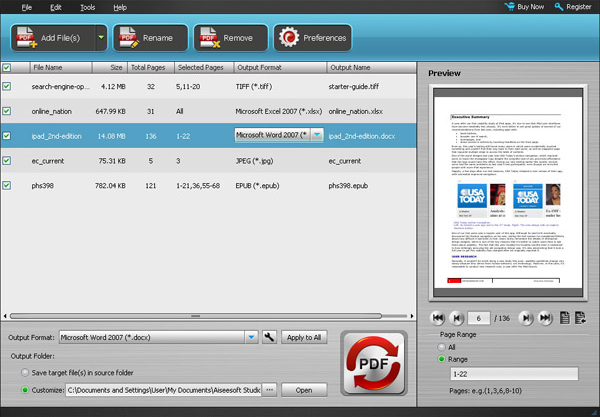 PDF Convertitore InterFace