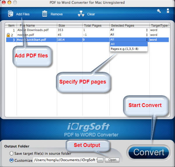 Mac PDF to MS Word