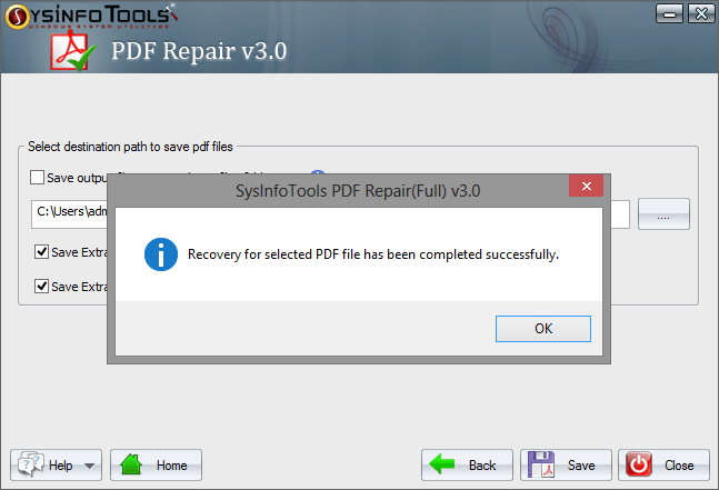 Recovery damaged pdf file